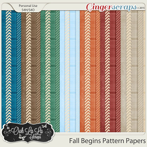 Fall Begins Pattern Papers