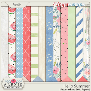 Hello Summer - Patterned Papers