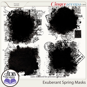 Exuberant Spring Masks by ADB Designs