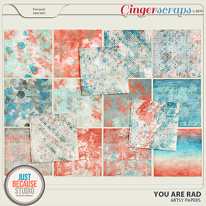 You Are Rad Artsy Papers by JB Studio