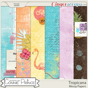 Tropicana - Messy Papers by Connie Prince