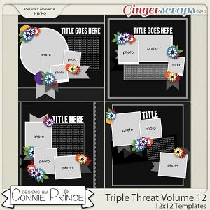 Triple Threat Volume 12 - 12x12 Temps (CU Ok) by Connie Prince