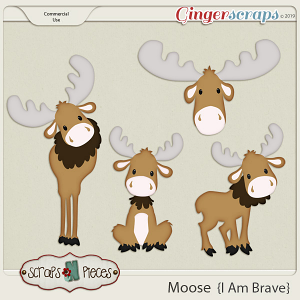 I am Brave Moose CU Layered Templates - Scraps N Pieces