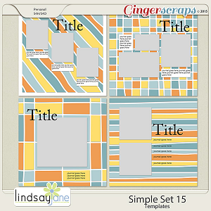 Simple Set 15 Templates by Lindsay Jane