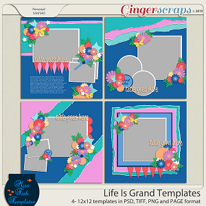 Life is Grand Templates by Miss Fish
