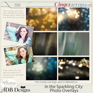 In The Sparkling City Photo Overlays by ADB Designs