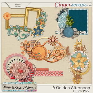 A Golden Afternoon Clusters from Designs by Lisa Minor