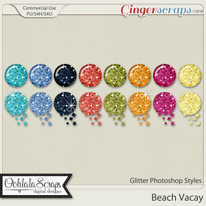 Beach Vacay CU Glitter Photoshop Styles