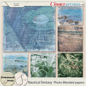 Nautical fantasy Photo-Blended papers