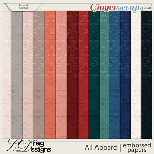 All Aboard: Embossed Papers by LDragDesigns