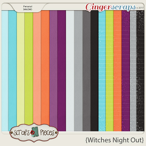 Witches Night Out Cardstocks and Glitters by Scraps N Pieces