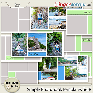 Simple Photobook templates Set 8