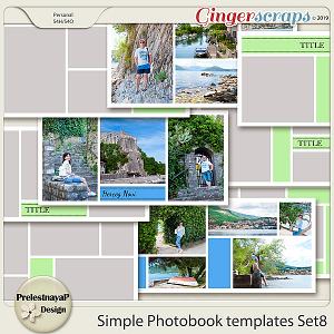 Simple Photobook templates Set 8