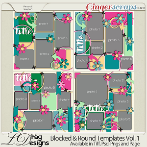 Blocked & Round Templates Vol.1 by LDragDesigns