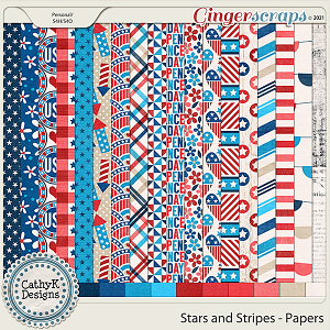 Stars and Stripes - Papers by CathyK Designs