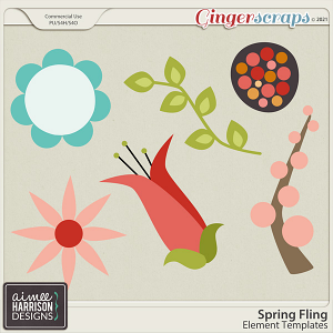 Spring Fling Element Templates by Aimee Harrison