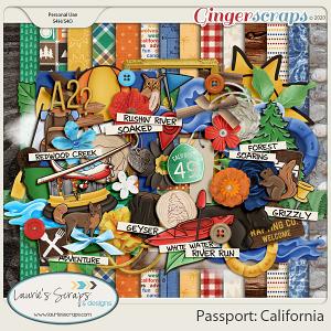 Passport: California Page Kit