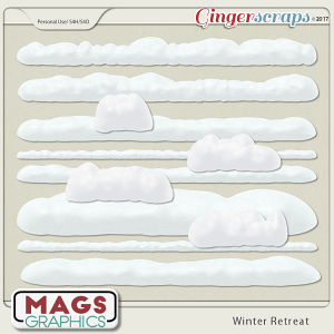 Winter Retreat SNOW TRIMS by MagsGraphics