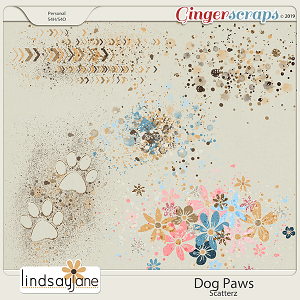 Dog Paws Scatterz by Lindsay Jane