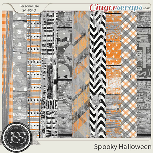 Spooky Halloween Worn Wood Papers