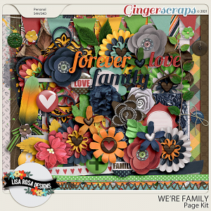We're Family Page Kit by Lisa Rosa Designs