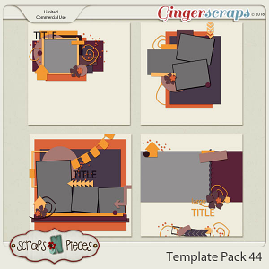 Template Pack 44  by Scraps N Pieces
