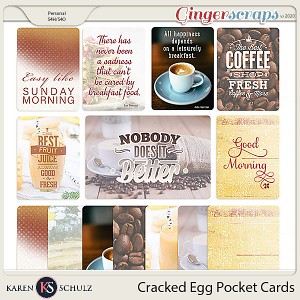 Cracked Egg Pocket Cards by Karen Schulz