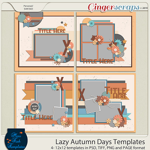 Lazy Autumn Days Templates by Miss Fish