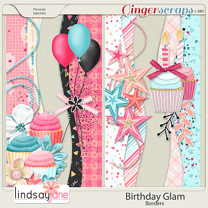 Birthday Glam Borders by Lindsay Jane