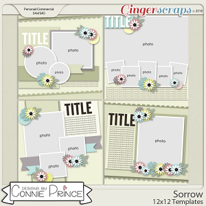 Sorrow - 12x12 Templates (CU Ok) by Connie Prince