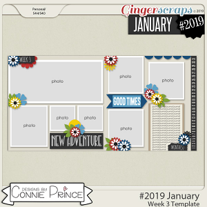 #2019 January - Week 3 Template Pack (CU Ok) by Connie Prince