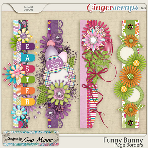Funny Bunny Page Borders from Designs by Lisa Minor