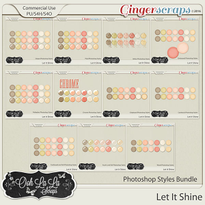 Let It Shine Photoshop Styles Bundle