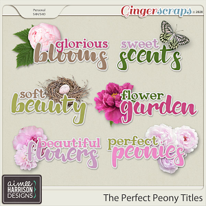 The Perfect Peony Titles by Aimee Harrison