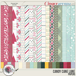 Candy Cane Lane - Papers - by Neia Scraps