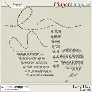 Lazy Day - Text Path - by Neia Scraps