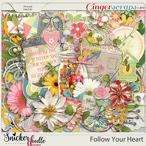 Follow Your Heart Kit by Snickerdoodle Designs