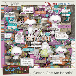 Coffee Gets Me Hoppin' by BoomersGirl Designs