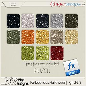 Fa-BOO-lous Halloween: Glitterstyles by LDragDesigns