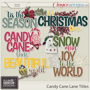 Candy Cane Lane Titles by Aimee Harrison