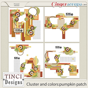 Cluster and colors: pumpkin patch
