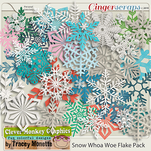 Snow Whoa Woe Flake Pack by Clever Monkey Graphics
