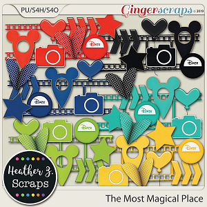 The Most Magical Place ACCENTS by Heather Z Scraps
