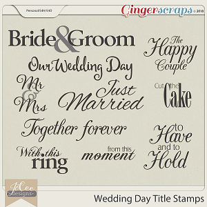 Wedding Day Titles by JoCee Designs