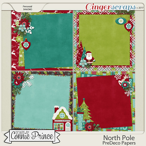 North Pole - PreDeco Papers by Connie Prince