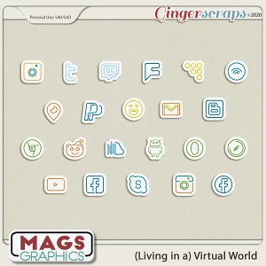 Virtual World ICON STICKERS by MagsGraphics