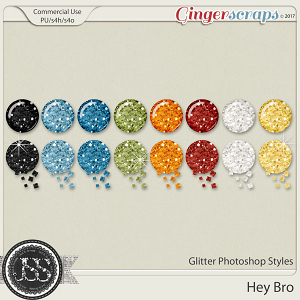 Hey Bro CU Glitter Photoshop Styles