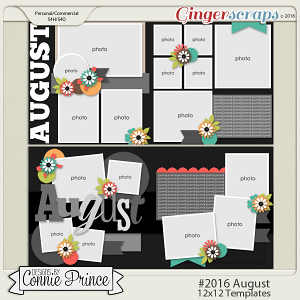 #2016 August - 12x12 Template Pack (CU Ok)