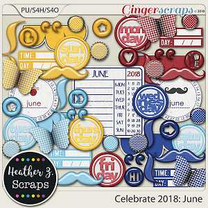 Celebrate 2018: June ACCENTS by Heather Z Scraps