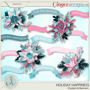 Holiday Happiness Clusters & Banners by Ilonka's Designs